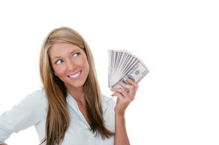 Woman_holding_money